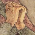 particolare delle mani della Madonna