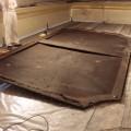 La tela prima del restauro