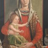 Madonna in trono con Bambino e i Santi Francesco, Girolamo, Antonio Abate e Ansano