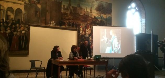 """Conferenza stampa per l'inizio del restauro del """"ciclo di Sant'Orsola"""" di Vittore Carpaccio."""